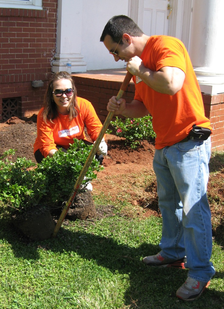 Home Depot volunteers work on our campus