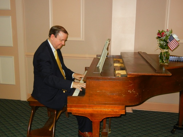 Bill Callaway plays the piano