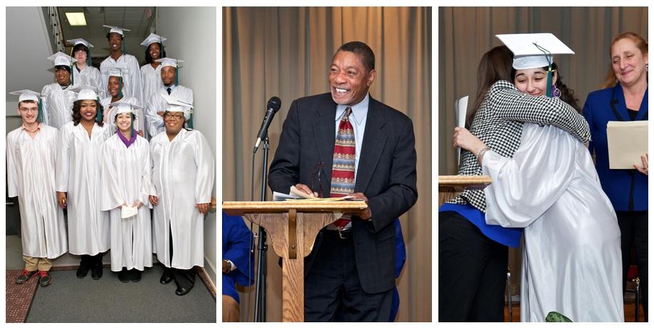 Graduation 2014 - Graduates, Speaker, and Hug