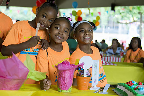 Young guests enjoy the candy bar in the Children's Home private pavilion. Fam Fest was made possible thanks to the generosity of 42 sponsors, who donated $110,250. The proceeds from Fam Fest will directly benefit the Children's Home work to help children and families in need.
