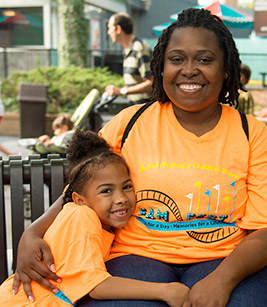 Candice and Cadence Thomas enjoyed a day of fun together at the first annual Children's Home Fam-Fest in September. The event was a chance for those we serve to enjoy a day of family fun.