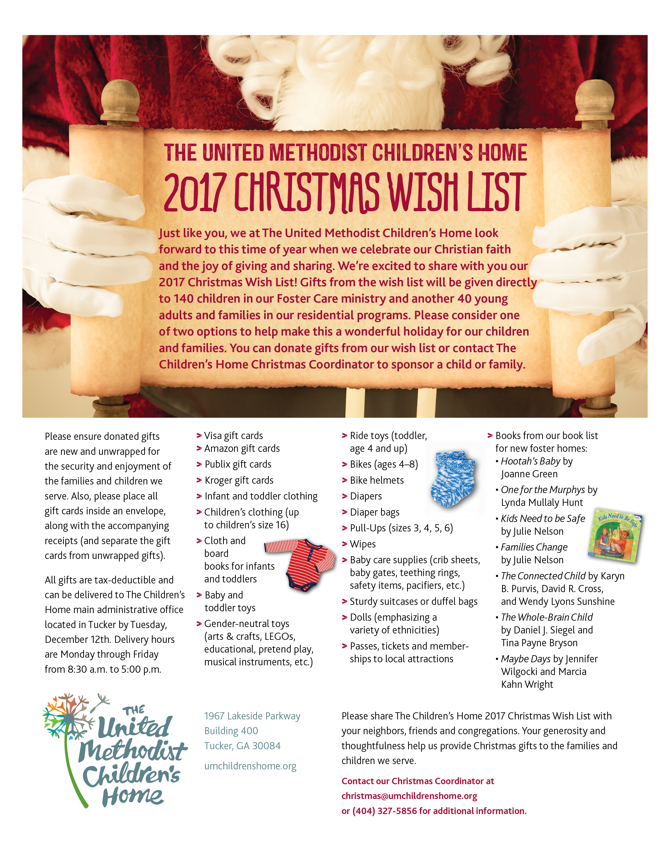 2017 Christmas Wish List | Georgia Foster Care